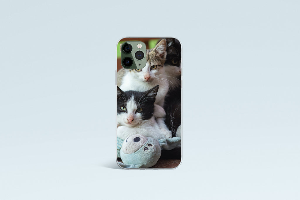 iPhone 11 Pro Max case with  Cozy Kittens design made by Life By Design Creations front view