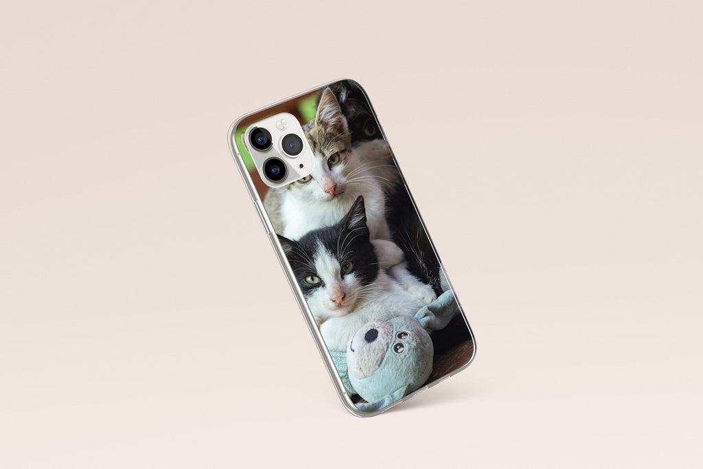 iPhone 11 Pro Max case with  Cozy Kittens design made by Life By Design Creations right side view