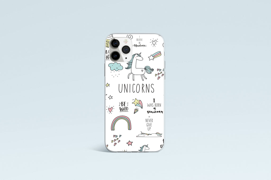 iPhone 11 Pro Max case with  Unicorn Power design made by Life By Design Creations front view
