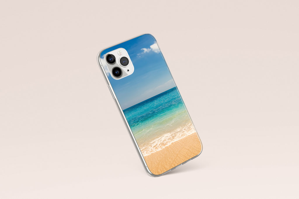 iPhone 11 Pro case with Beach and Ocean design made by Life By Design Creations left side view