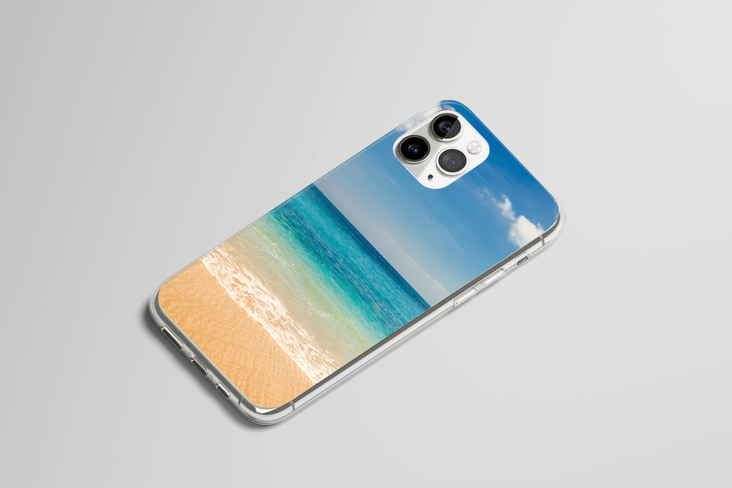iPhone 11 Pro case with Beach and Ocean design made by Life By Design Creations right side view