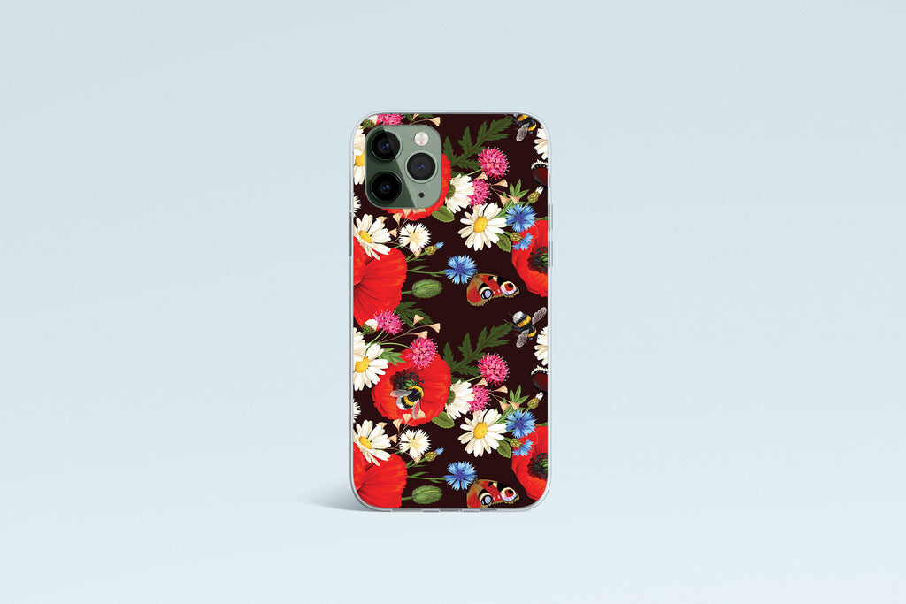 iPhone 11 Pro case with Summer Flowers design made by Life By Design Creations front view