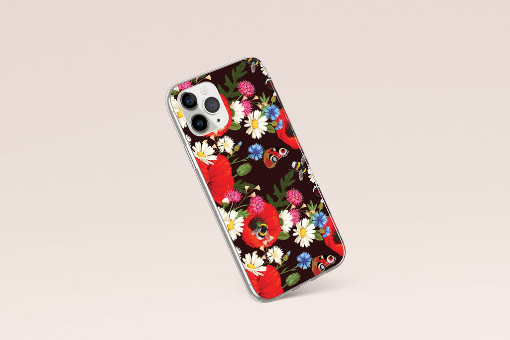 iPhone 11 Pro case with Summer Flowers design made by Life By Design Creations left side view