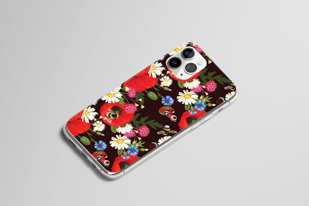 iPhone 11 Pro case with Summer Flowers design made by Life By Design Creations right side view