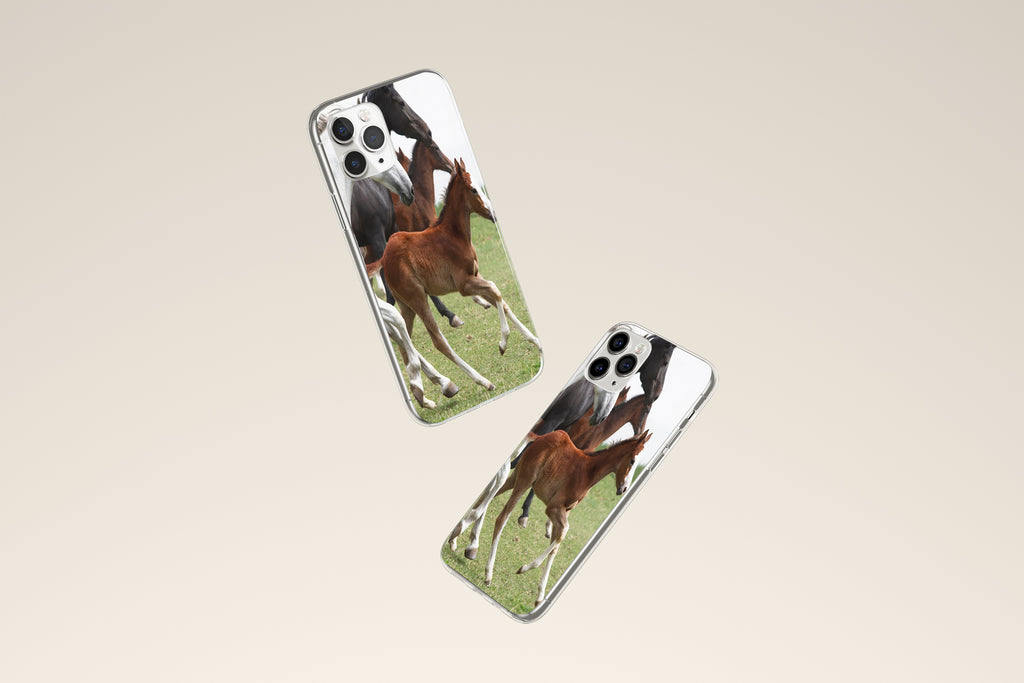 iPhone 11 Pro case with Wild Horses design made by Life By Design Creations both sides view