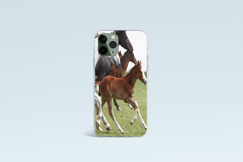 iPhone 11 Pro case with Wild Horses design made by Life By Design Creations front view