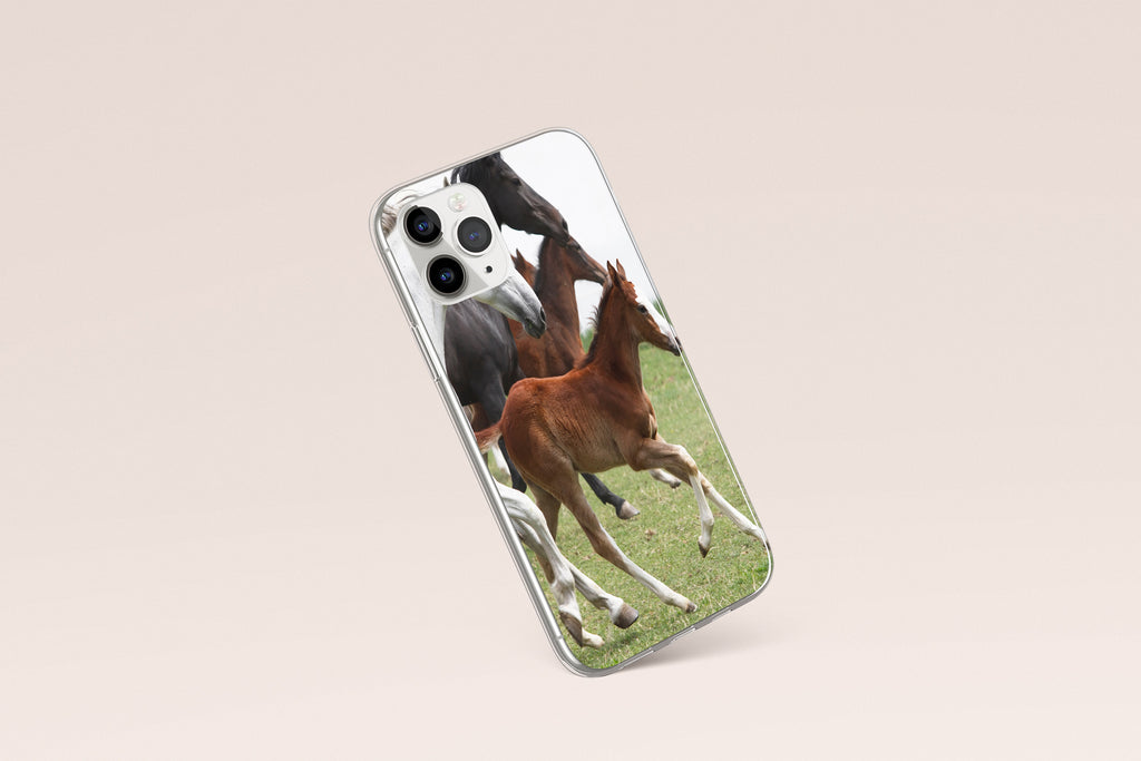 iPhone 11 Pro case with Wild Horses design made by Life By Design Creations left side view
