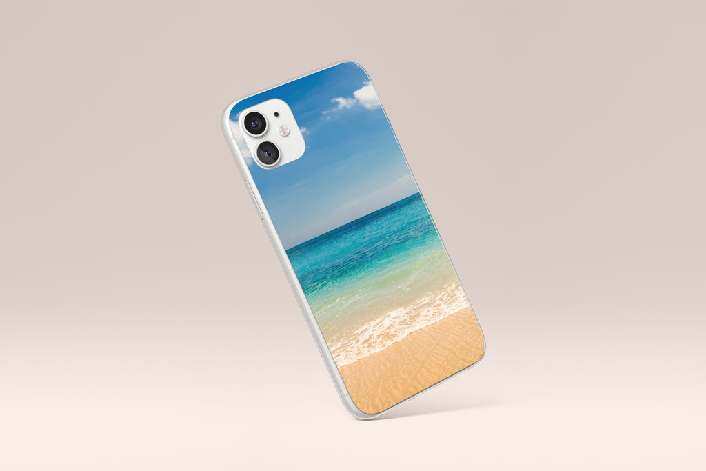 iPhone 11 case with Beach and Ocean design made by Life By Design Creations left side view