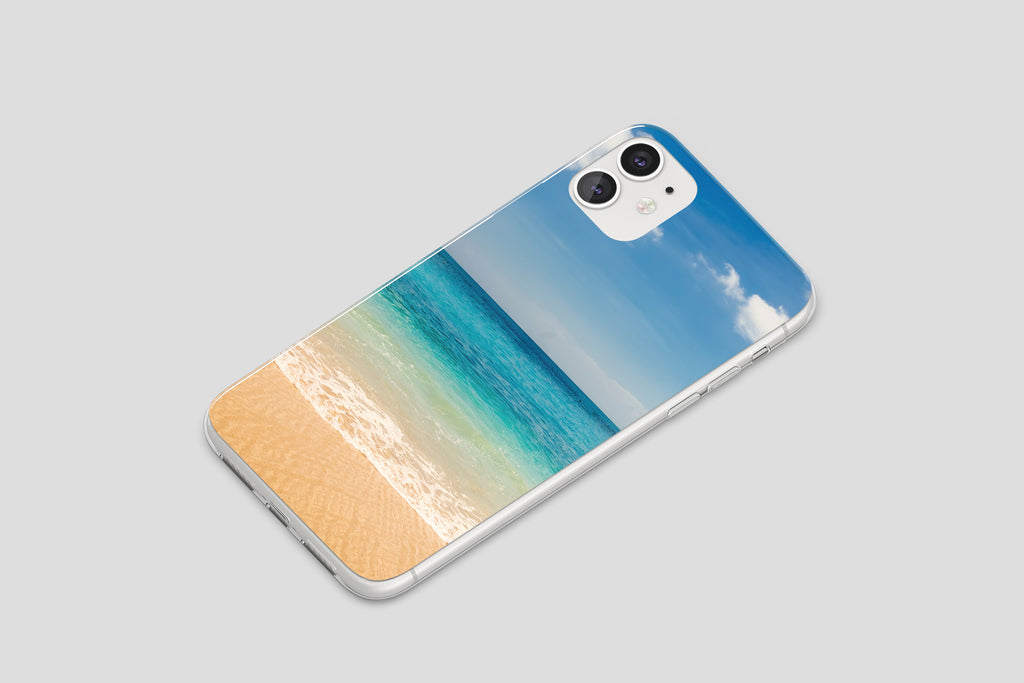 iPhone 11 case with Beach and Ocean design made by Life By Design Creations right side view