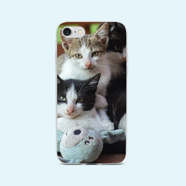 iPhone 7 case with Cozy Kittens design made by Life By Design Creations front view
