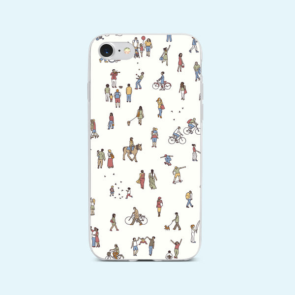 iPhone 7 case with People Power design made by Life By Design Creations front view