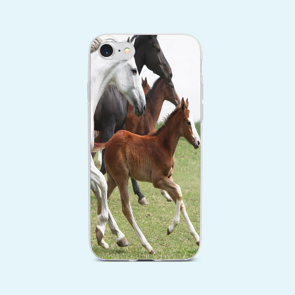 iPhone 7 case with Wild Horses design made by Life By Design Creations front view