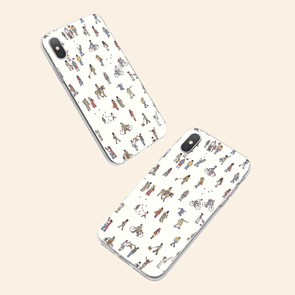 iPhone XS Max case with People Power design made by Life By Design Creations  both sides view