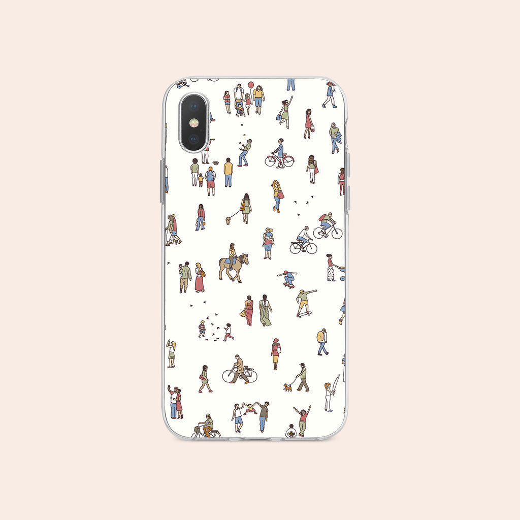 iPhone XS Max case with People Power design made by Life By Design Creations  front view