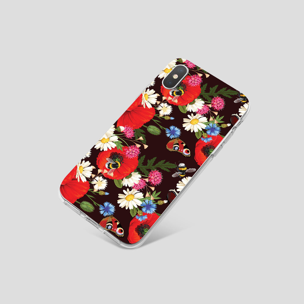 iPhone XS case with Summer Flowers design made by Life By Design Creations  right side view