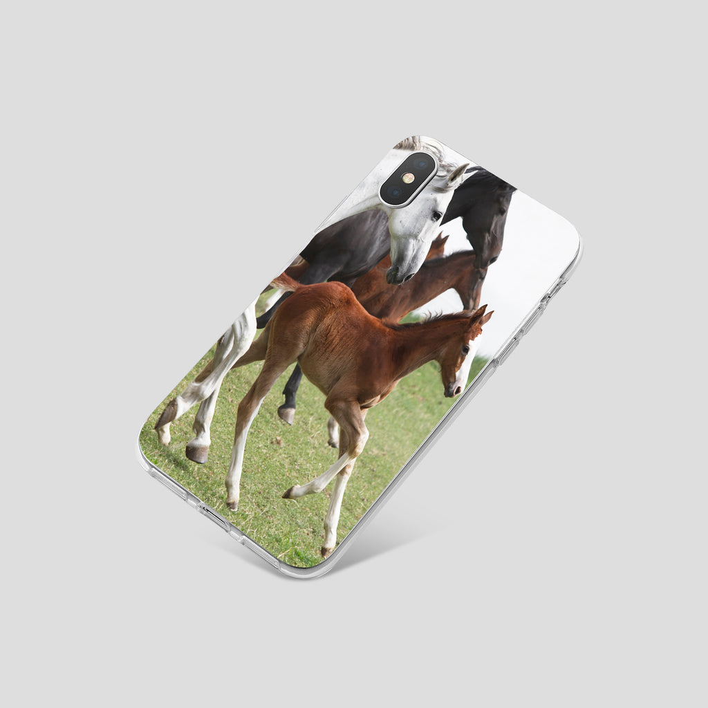 iPhone XS case with Wild Horses design made by Life By Design Creations  right side view