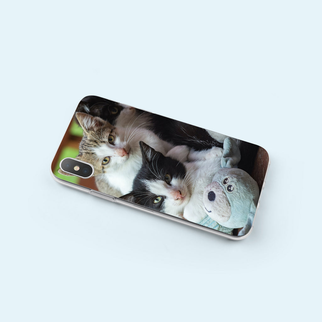 iPhone X case with Cozy Kittens design made by Life By Design Creations  left side view