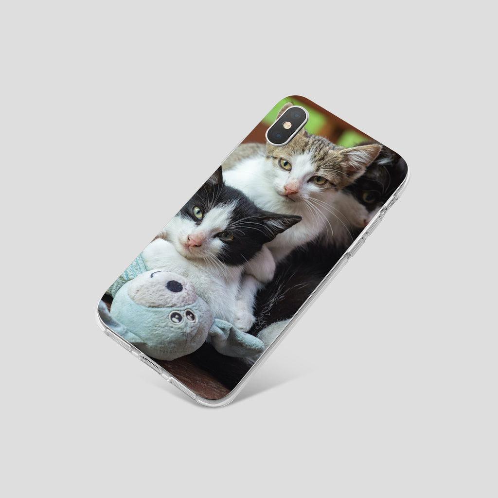 iPhone X case with Cozy Kittens design made by Life By Design Creations  right side view