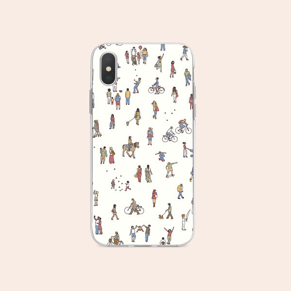 iPhone X case with People Power design made by Life By Design Creations  front view