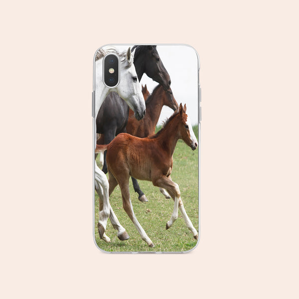 iPhone X case with Wild Horses design made by Life By Design Creations  front view