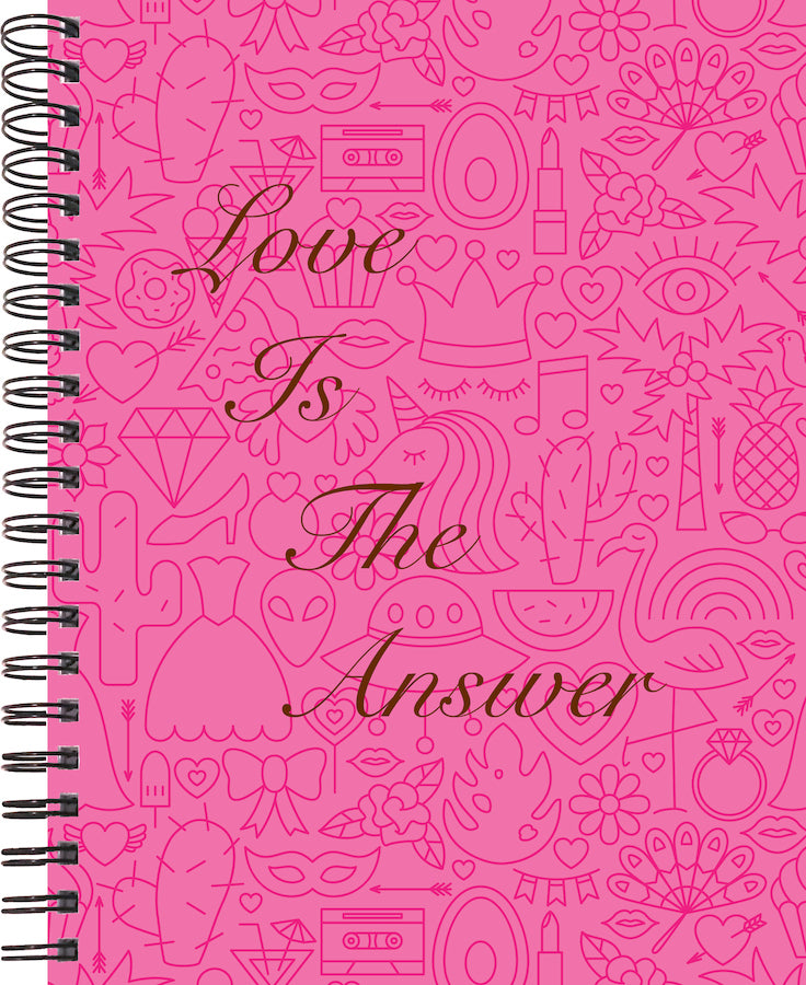 2020 life by design planner love is the answer cover for 12 month planner