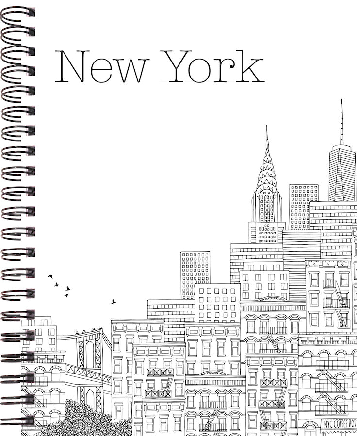 2020 life by design planner with New York cityscape cover made by life by design creations ltd