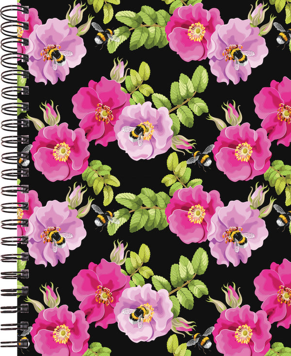 dog rose and bees cover for 2020 life by design planner