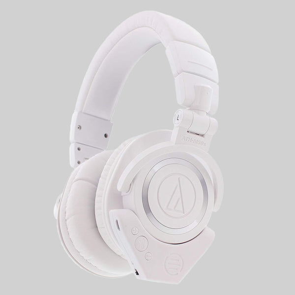 ATH M50X with Bluetooth Adapter (White)