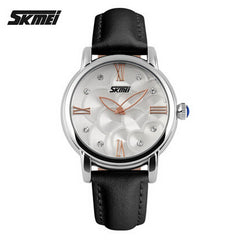 SKMEI Leather Strap Watch