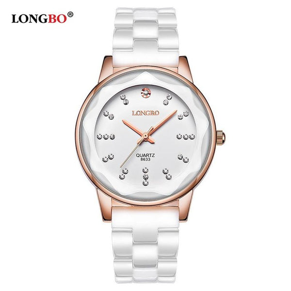 White Ceramics Casual Watch