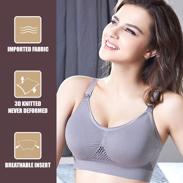 ADJUSTABLE STRAP AIR FLOW WIRE-FREE BRA