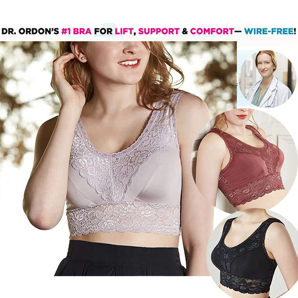 *SUMMER CHOICE* COOLING TECHNOLOGY PURE SILK RESHAPE LACE BRA