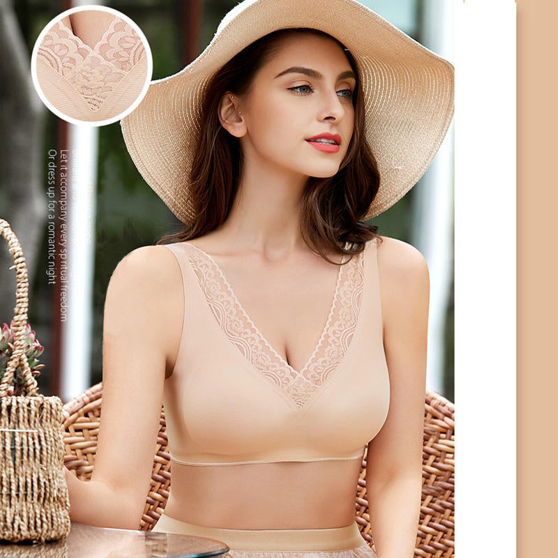 *SUMMER ROMANCE*  SEXY LIGHT BREATHABLE SUPPORT SILK BRA