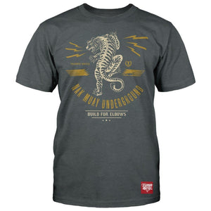 TU Built For Elbows- Tri Charcoal Heather