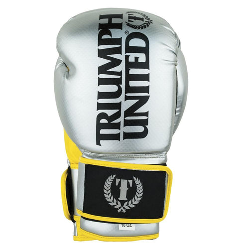 Triumph United TBC Glove SILVER/YELLOW