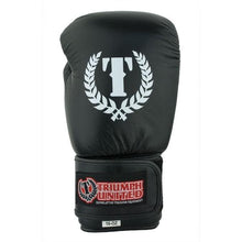Load image into Gallery viewer, TU Pro Trainer Leather Boxing Gloves - Black - Triumph United