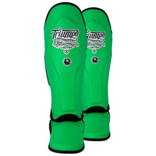Load image into Gallery viewer, TU Tiger 1 Series Pro Muay Thai Shin Guards GREEN