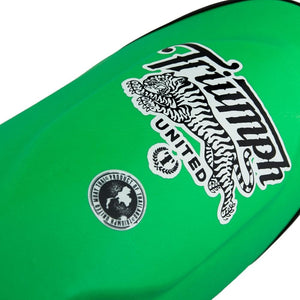 TU Tiger 1 Series Pro Muay Thai Shin Guards - Green - Triumph United