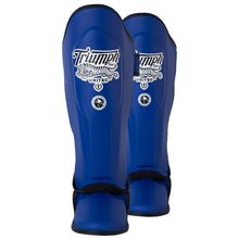 Load image into Gallery viewer, TU Tiger 1 Series Pro Muay Thai Shin Guards - Blue - Triumph United