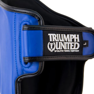 TU Tiger 1 Series Pro Muay Thai Shin Guards - Blue - Triumph United