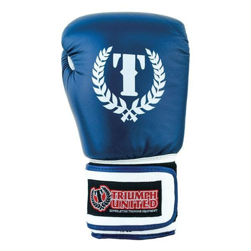 TU Pro Trainer Leather Boxing Gloves - Blue - Triumph United
