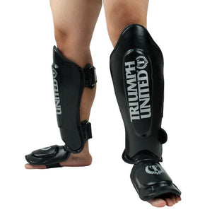 TU TBC Thai Style Shin Guards - Black - Triumph United