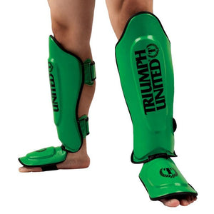 TU TBC Thai Style Shin Guards - Green - Triumph United
