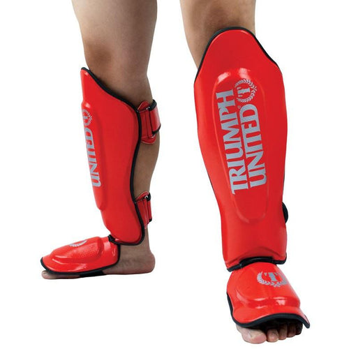 Triumph United TBC Thai Style Shin Guards-RED