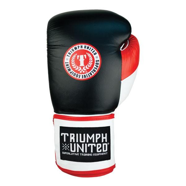 TU Death Adder Sparring Gloves - Velcro - Black/White/Red - Triumph United
