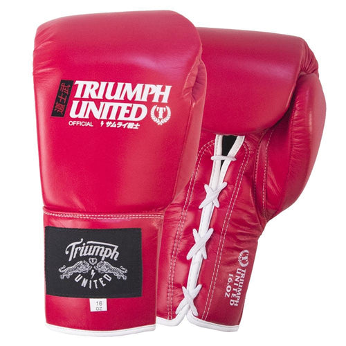 TU Bushido Elite Pro Glove- Lace Up- RED