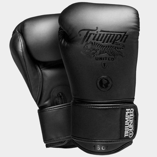 TU V1PER Series Boxing Gloves - Murdered Out - Velcro - Triumph United