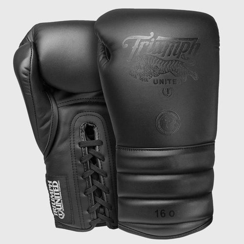 TU V1PER Series Boxing Gloves - Murdered Out - Lace Up - Triumph United