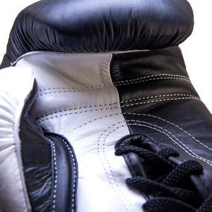 Death Adder Lace Up Sparring Glove - Black/White