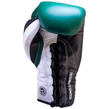 Load image into Gallery viewer, Death Adder Lace Up Sparring Glove- Green/White/Black